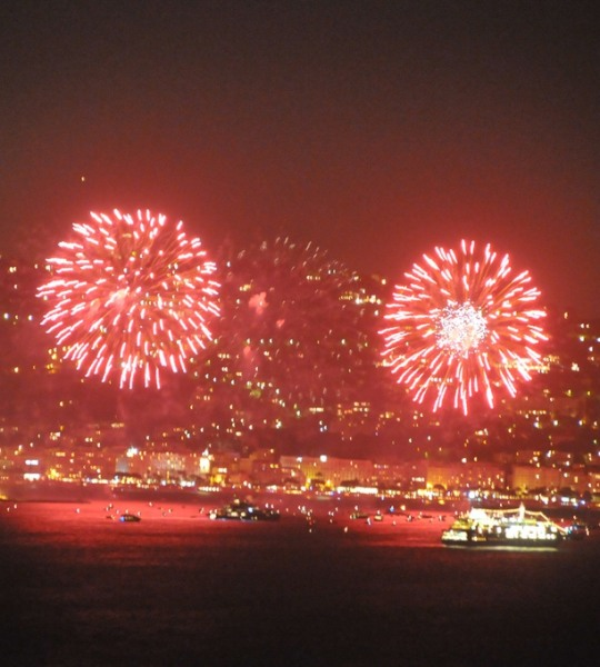 Cannes in July 2019; fireworks and shopping